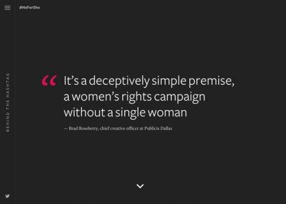 Behind The Hashtag: #HeForShe