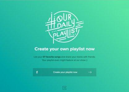 Playlist nossa de cada dia