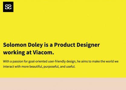 Solomon Doley - New York Based Creative Professional