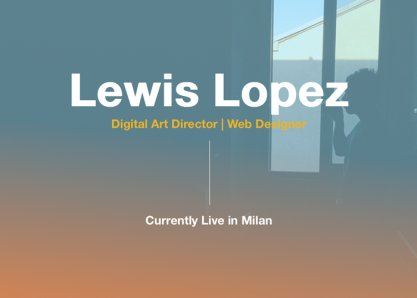 Lewis Lopez - Life in a Day
