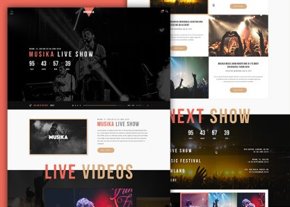 Musika - Music Band Joomla Template