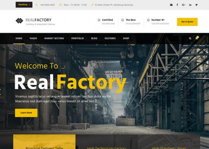 Real Factory - Factory / Industrial / Construction Responsive WordPress Theme