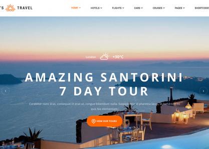 Let's Travel WordPress Theme