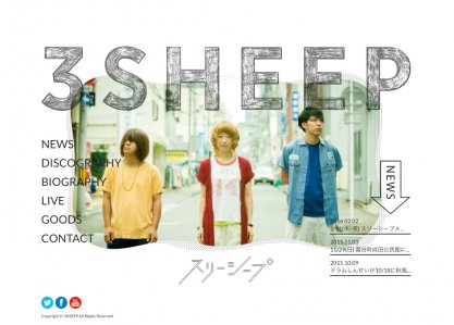 3SHEEP|JAPANESE ROCK BAND