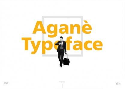 Aganè Typeface