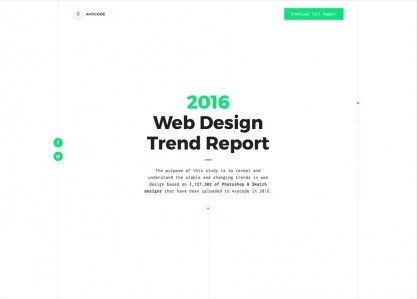 Avocode 2016 Web Design Report