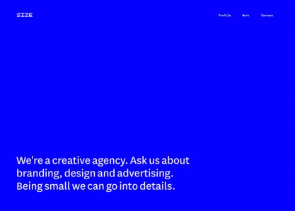 Size Agency Website
