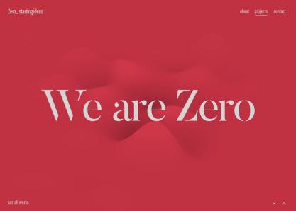 Zero _ starting ideas