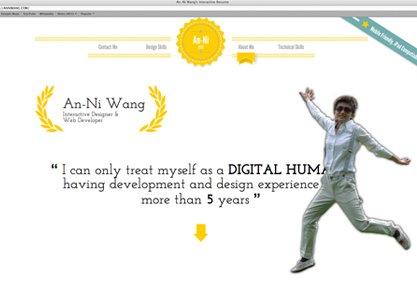 An-Ni Wang's interactive resume