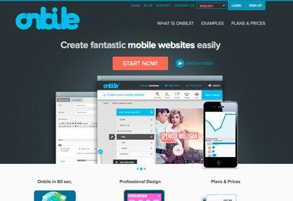 Onbile - Create mobile websites