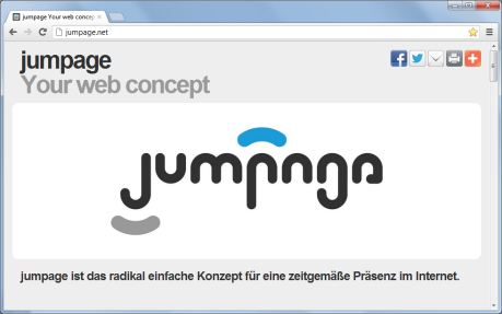 jumpage Your web concept