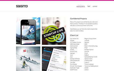 saismo - beautiful & useable UI