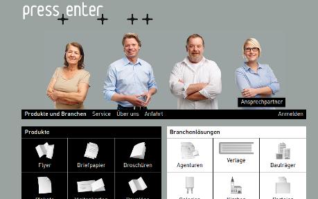pressenter Online-Druckshop
