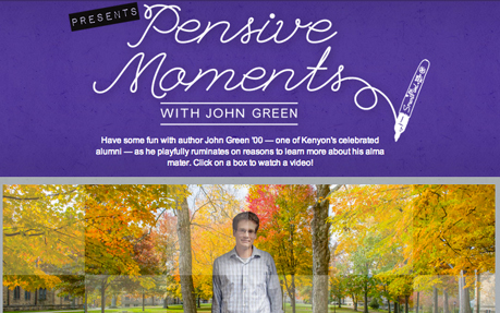 Pensive Moments with John Green