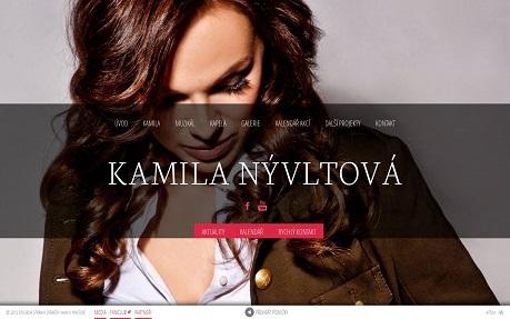 Czech singer Kamila Nývltová