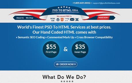 PSD To HTML USA