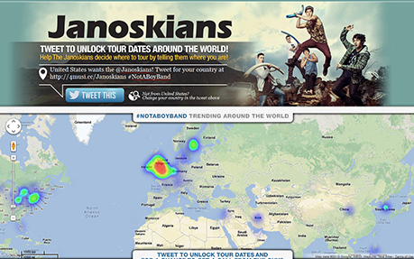 Janoskians Heatmap Tweematic