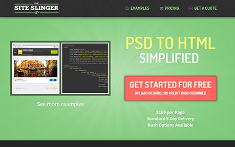 The Site Slinger PSD to HTML