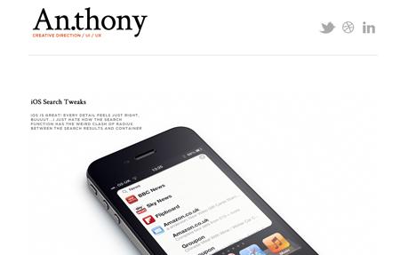 An.thony   UI / UX Designer