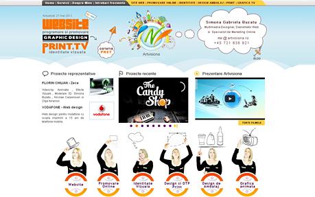 Web design and graphic design portfolio