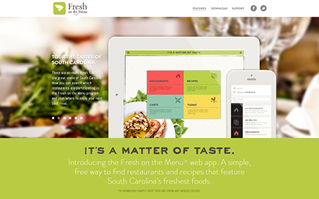 Fresh on the Menu App