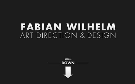 Portfolio Website of Art Director Fabian Wilhelm