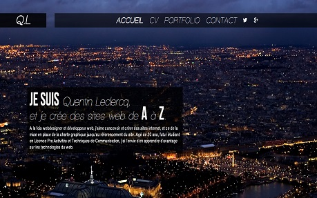 Quentin Leclercq | Webdesigner et Développeur Web