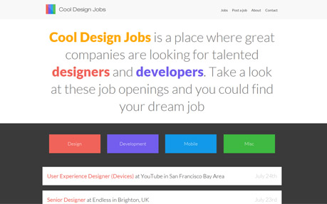 Cool Design Jobs