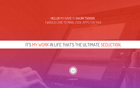 Shijir Tsogoo's portfolio site