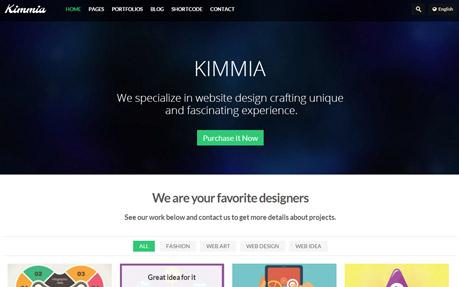Kimmia Responsive Creative WordPress Theme
