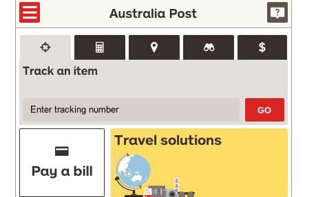 Australia Post Mobile Site