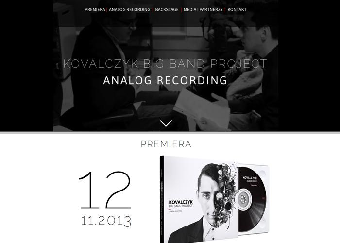 KOVALCZYK BIG BAND PROJECT ANALOG RECORDING