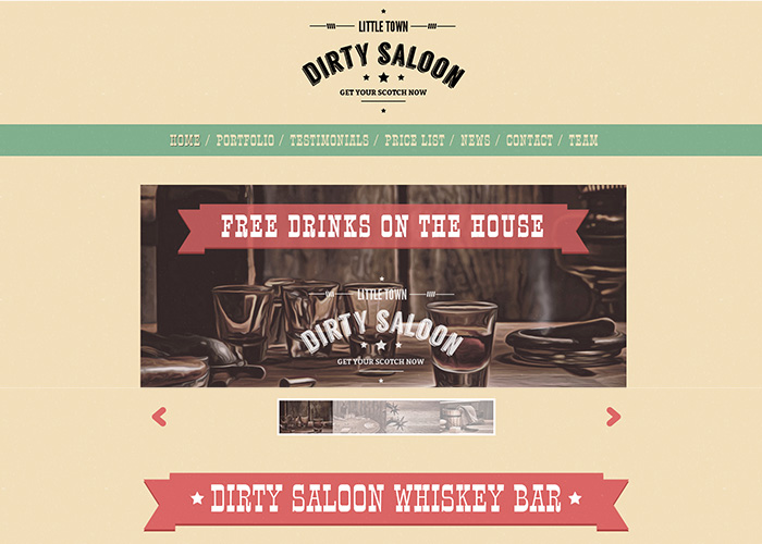 Dirty Saloon - A Cowboy Theme