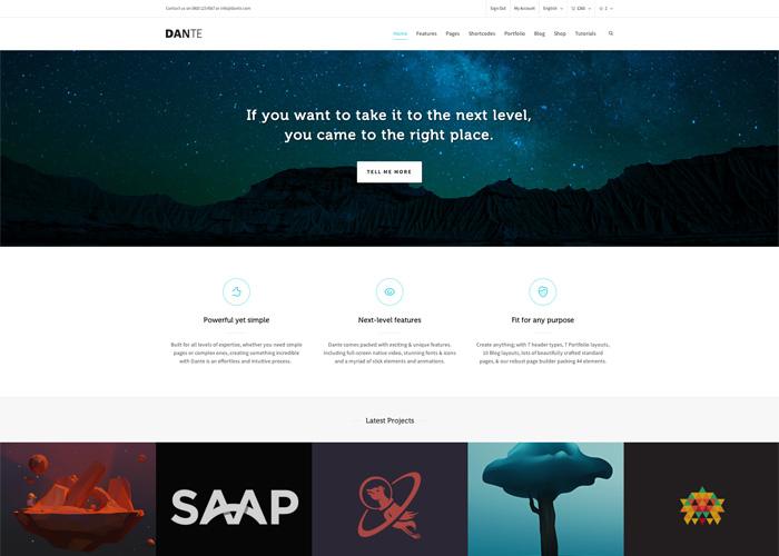 Dante - Multi-Purpose WordPress Theme