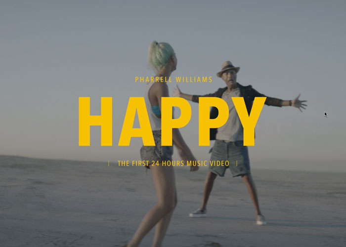 PHARRELL WILLIAMS - 24 HOURS OF HAPPY