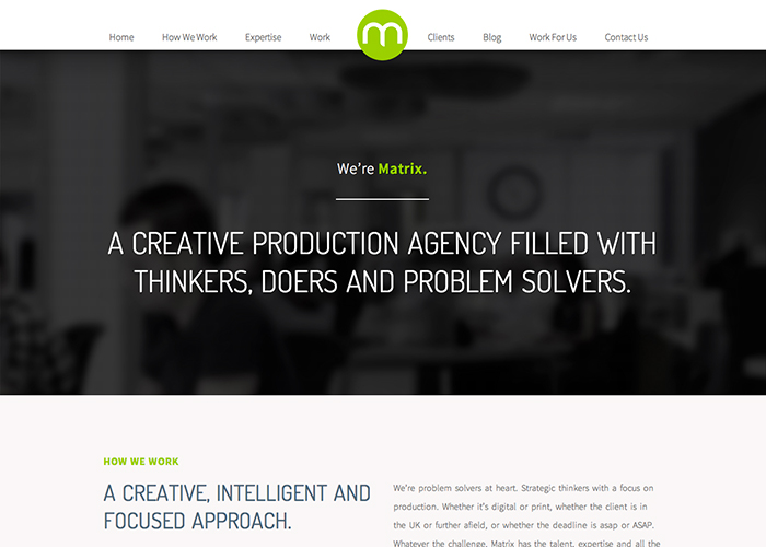 Matrix - A Creative Production Agency