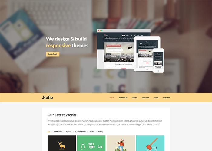 "Rufio - A ""2 in 1"" Responsive WordPress Theme"
