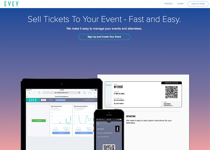 Evey - Sell Tickets Online and Manage Your Events