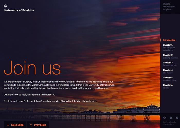 University of Brighton - Join Us