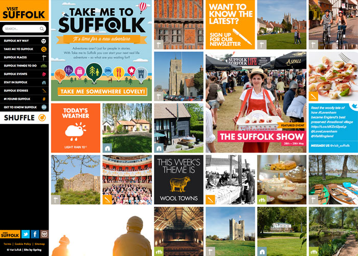 Suffolk's bold new tourism site
