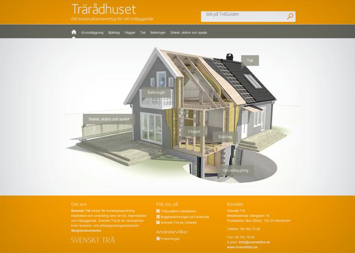 Trärådhuset, Wood building app