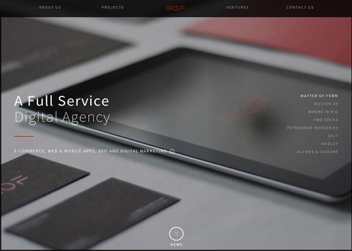 Matter Of Form   Digital Agency