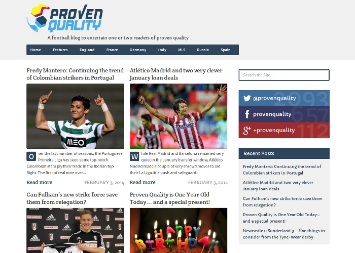 Proven Quality Football Blog