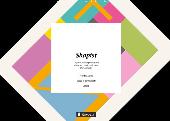 Shapist - a sliding block puzzle like no other