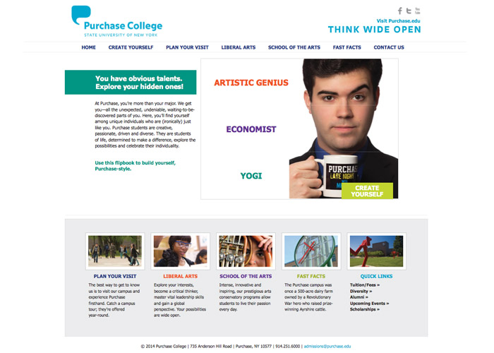 SUNY Purchase Build Yourself