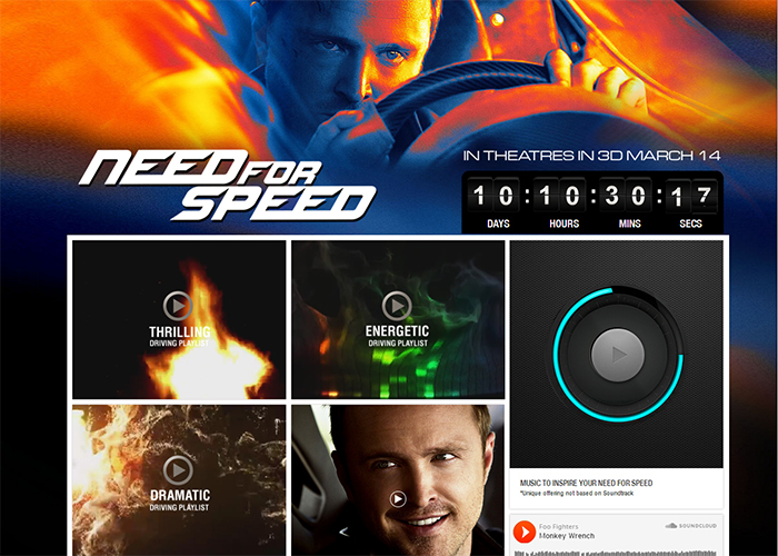 """Need For Speed"" - Starring Aaron Paul"