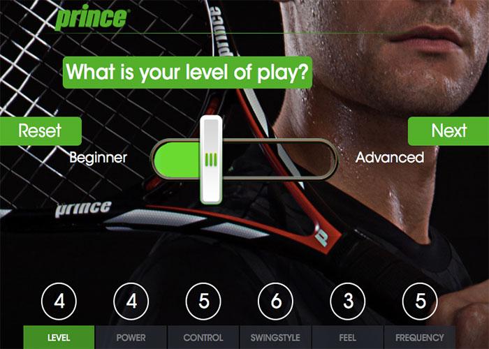 I AM PRINCE - Racquet Selector