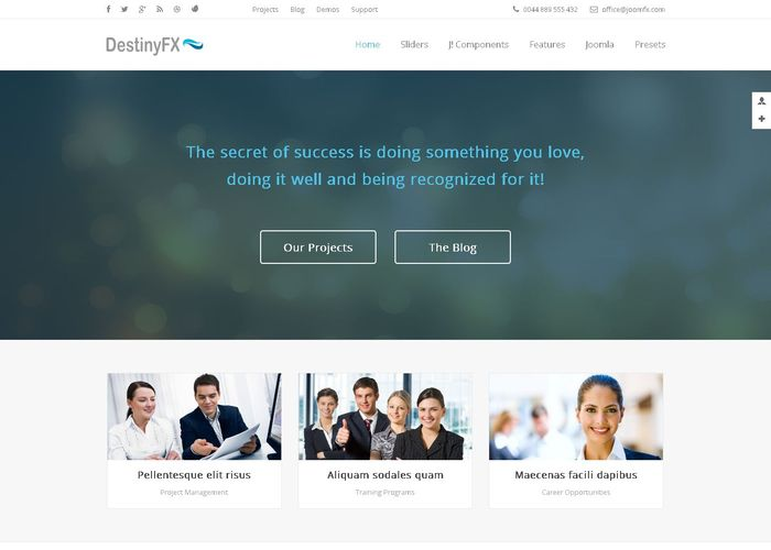 DestinyFX - Corporate Joomla Template - Awwwards Nominee