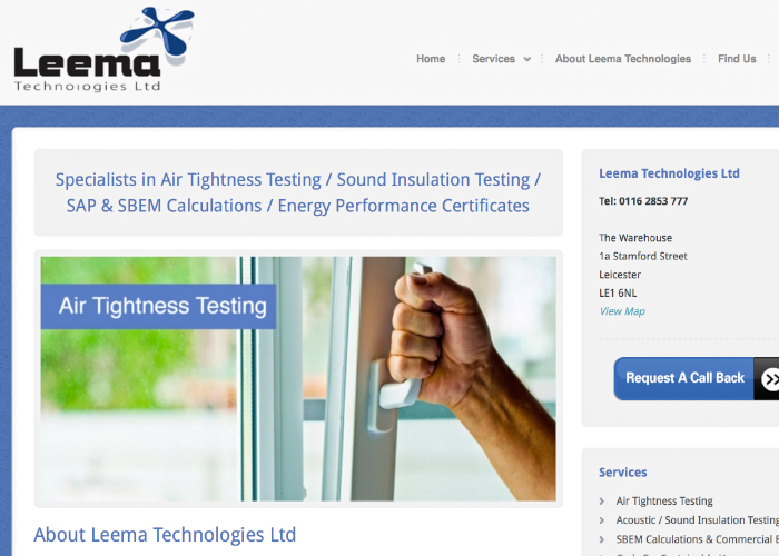 Leema Air Tightness Testing