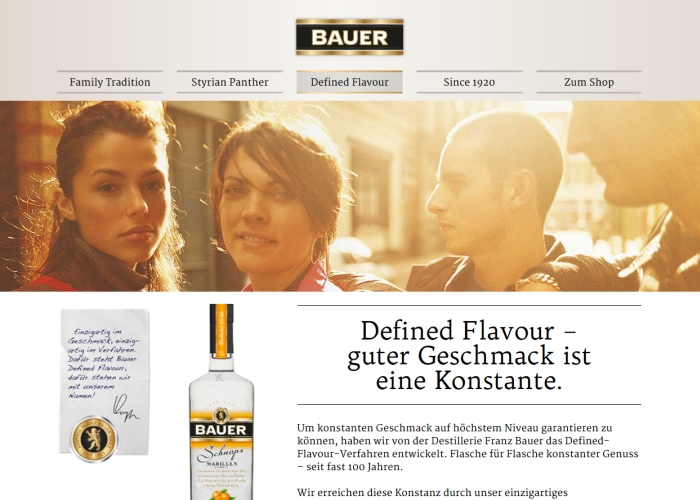 Bauer Distillery - Defined Flavour